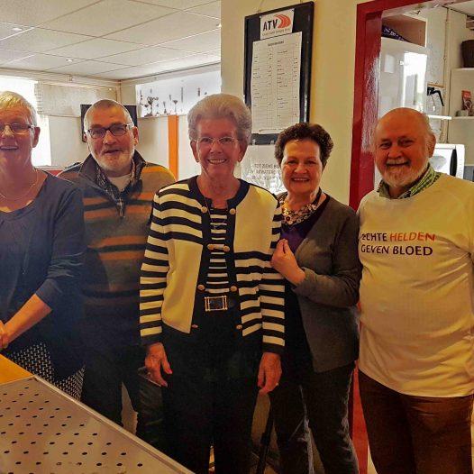 De vrijwilligers van afnamelocatie Venray